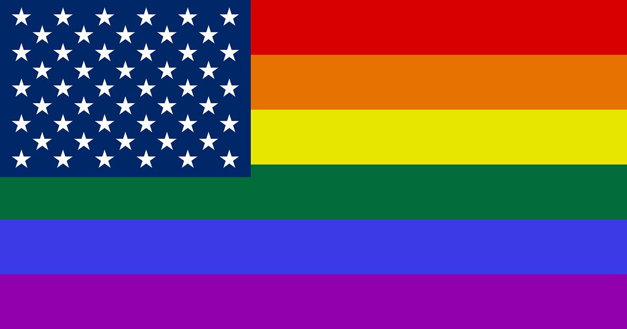 The River of Pride USA Rainbow Flag